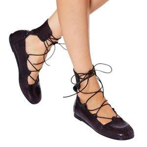 dc91181b72f7 Ancient Greek Sandals Shoes - Ancient Greek sandals genuine python laceup  flats